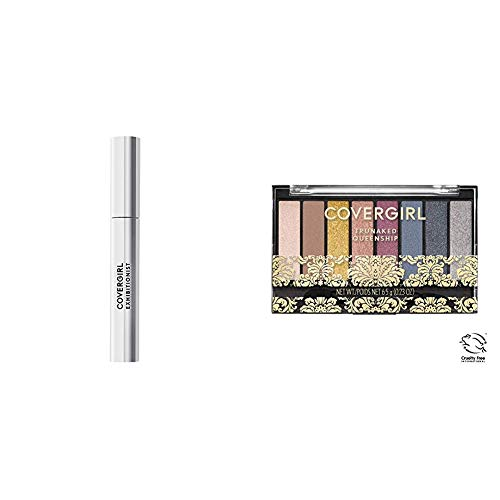 Covergirl Exhibitionist Mascara in Very Black and TruNaked Queenship Eyeshadow Palette Bundle