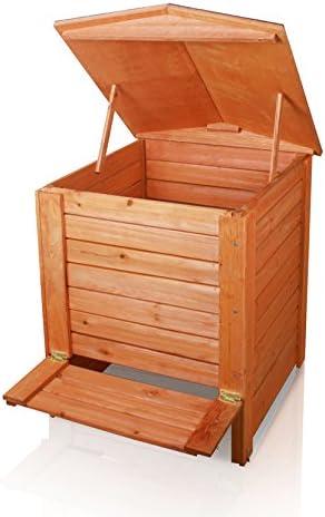 Lacewing Compostador de madera con bisagras – 288L: Amazon.es: Jardín