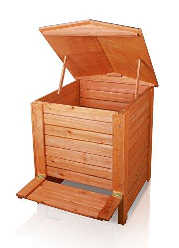 Kompostbehälter, mit Scharnier, Holz, 288L Kompostbehälter