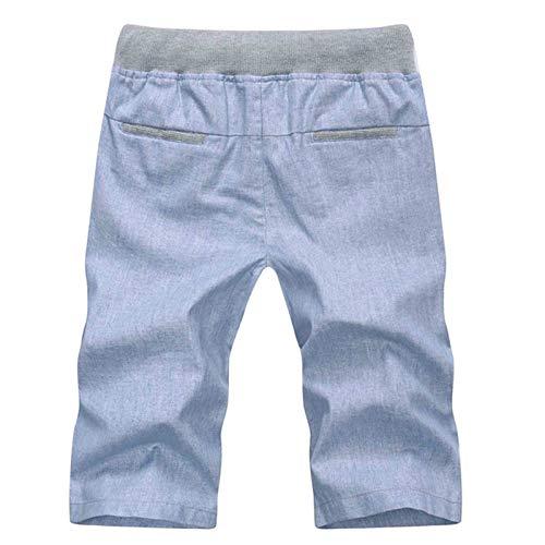 LOJF Pantalones Cortos Moda Slim Fit Estilo Clásico Slim Fit ...