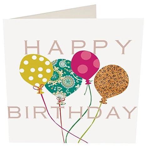 Feliz cumpleaños tarjeta de felicitación en blanco -, globos ...