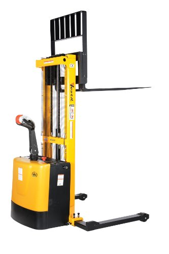 Vestil-S-62-AA-Powered-Drive-and-Powered-Lift-Stacker-with-Adjustable-Forks-and-Support-Legs-2-62-Height-Range-42-Length-x-26-34-Width-Fork-2000-lbs-Capacity