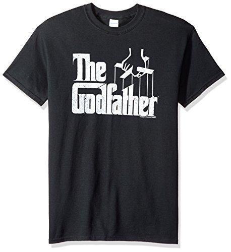 Trevco Men's Godfather Short Sleeve T-Shirt, Black, X-Large