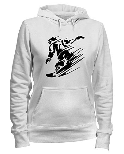 Bianca Felpa Donna SNOWBOARDING Cappuccio T Shirtshock OLDENG00247 B70wq6
