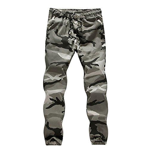 iYBUIA Cotton Mens Casual Jogger Camo Sportwear Baggy Harem Pants Slacks Trousers Sweatpants