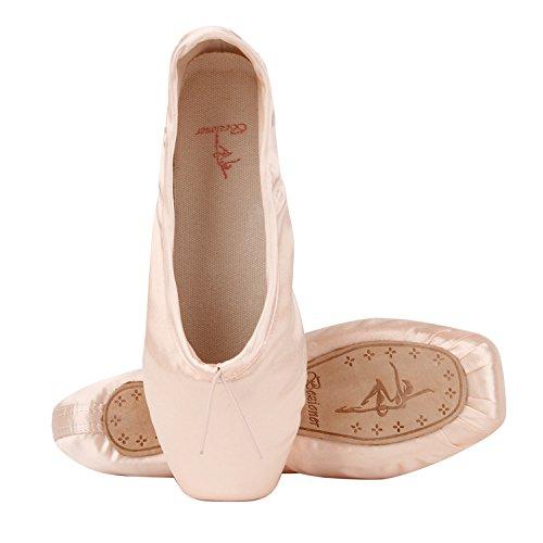 Rubans Talons Et Pointe Ballet Rose pantoufle Girls Red Shoes Flats Avec 6qdzHw