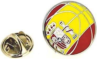 Gemelolandia Pin de solapa Balon Baloncesto Bandera España 18mm ...