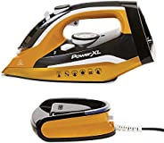 PowerXL Cordless Iron and Steamer, 1400W Iron with Ceramic Soleplate, Vertical Steam, Anti-Calc, Anti-Drip, Au