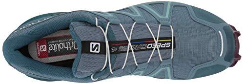 Salomon Women's Speedcross 4 W Trail Running Shoe, Bluestone/Mallard Blue/Dark Purple, 5.5 Standard US Width US by Salomon (Image #8)