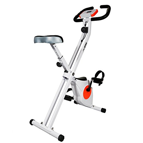 Xspec Foldable Stationary Upright Exercise Bike Cardio Workout Indoor Cycling Xspec