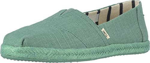 TOMS Women's Alpargata on Rope Winter Green Canvas On Mono Rope 9 B US