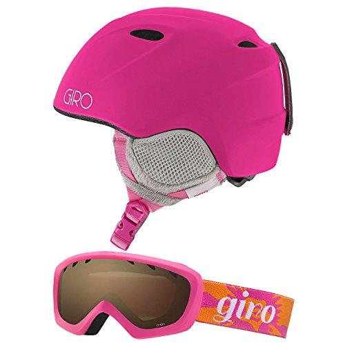Giro Slingshot CP Kids Snow Helmet w/ Matching Goggles Matte Magenta Flower XS/S (49-52cm)