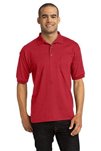 Gildan DryBlend6-Ounce Jersey Knit Sport Shirt with Pocket Red XX-Large