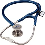 MDF® ER Premier® Cardiology Stainless Steel Dual Head Adult-Pediatric Stethoscope with adult cardiology bell convertible attachment - Royal Blue (MDF797DD-10)