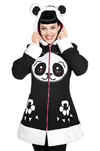 Banned Panda Face Coat - UK 14 / US 10 / EU 40