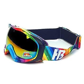 HB arco iris rayas marco protector polarizadas Gafas de nieve