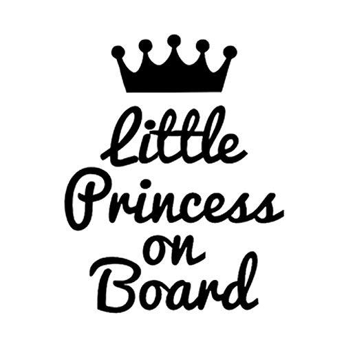 LanLan Autocollants pour Auto Autocollants de Voiture Mignonne Petite Princesse /à Bord Blanc