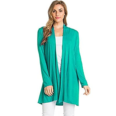 12 Ami Longline Long Sleeve Open Cardigan (S-3X) - Made in USA at Amazon Women's Clothing store