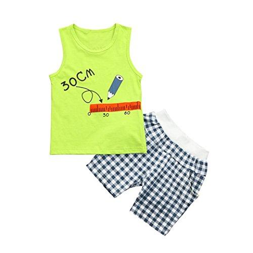 906762c03 PAOLIAN Moda Conjuntos Ropa para Niños Babe para Verano Manga corta  Camisetas de Alfabeto y Pantalones