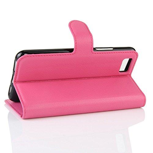 Lusee® PU Caso de cuero sintético Funda para Asus ZenFone 3S Max ZC521TL Cubierta con funda de silicona marrón rosa roja