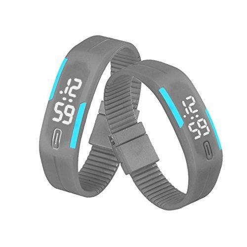 BestNow Unisex Rubber LED Watch Date Sports Bracelet Digital Wrist Watch