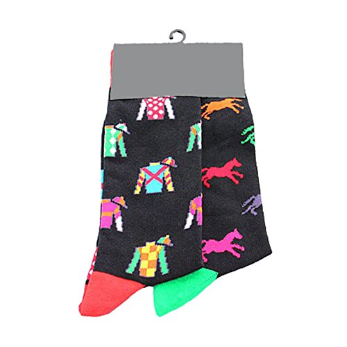 Dragon Honor Mens Funny Novelty Socks Crazy Cute Cool Cotton Food Crew Socks (Horse)
