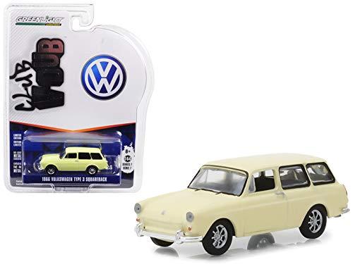 1966 Volkswagen Type 3 Squareback Yellow Series 7 Club Vee Dub 1/64 Diecast Model Car ()