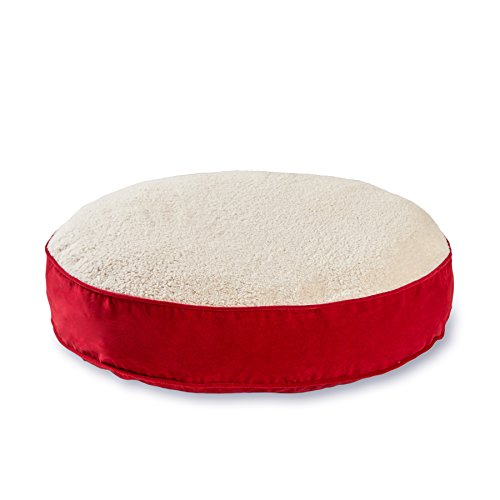 Happy Hounds Scout Deluxe Round Dog Bed, Large 42-Inch, Crim