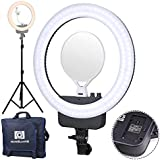 "NanGuang V29C 16"" Bicolor LED AC/Battery Ring Light Kit with USB Power Passthrough - Battery Not Included"
