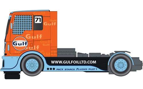 (Scalextric Gulf Racing Truck 1: 32 Slot Race Car C4089)