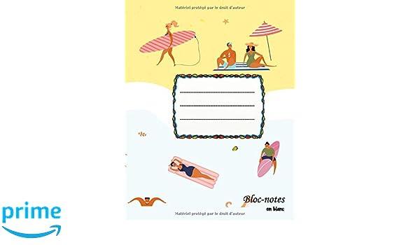 Bloc-notes en blanc: Strand - format A4 | 112 pages | carnet ...