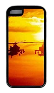 Customized Case Helicopter Military TPU Black for Apple iPhone 5C