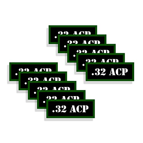 Speed Demon Hot Rod Shop Ammo Can Labels 32 ACP Automatic Pistol Ammunition Decals 10 Pack Adhesive Vinyl 3