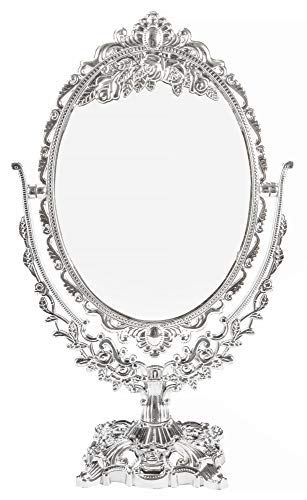 Vanity Make Up Cosmetic Mirror, Two Sided Swivel with 2x Magnification, Makeup -