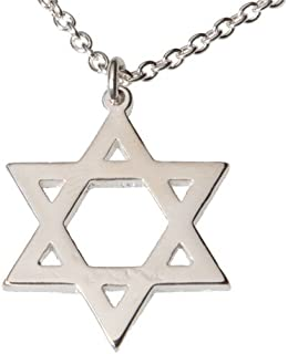 """product image for From War to Peace Star of David Necklace on 18"""" Rolo Chain"""