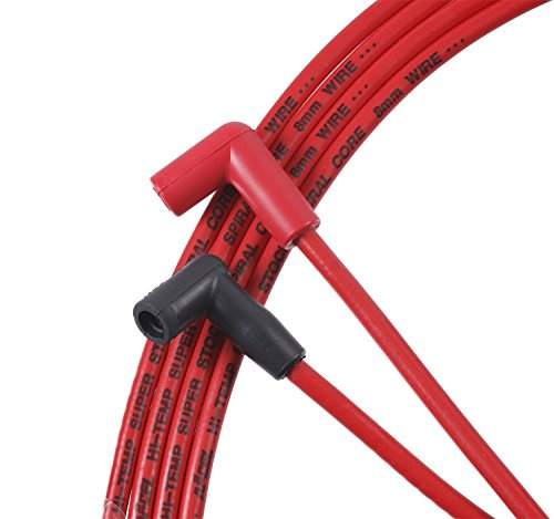 ACCEL 5048R 8mm Super Stock Spiral Custom Wire Set - Red (Super Spiral Stock)