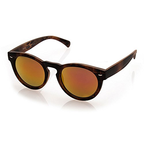 NYS Collection Bayview Avenue Vintage Sunglasses, Tortoise Shell Frame/Red - Red Glasses Shell Tortoise