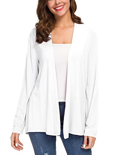 Women's Long Sleeve Solid Color Open Front Cardigan