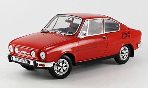 Skoda 110R Coupe, rot, 1980, Modellauto, Fertigmodell, Abrex 1:18