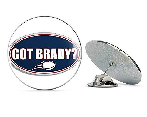 - NYC Jewelers Oval GOT Brady (New England qb 12 Patriots Super Bowl) Metal 0.75