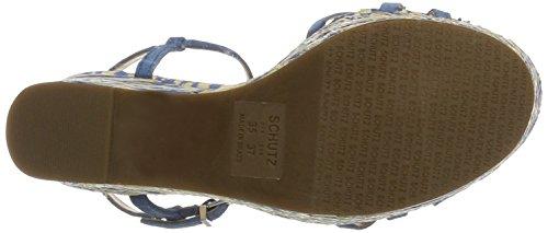 Schutz S2-00060027, Scarpe con Cinturino Donna Mehrfarbig (Snorkel Blue)