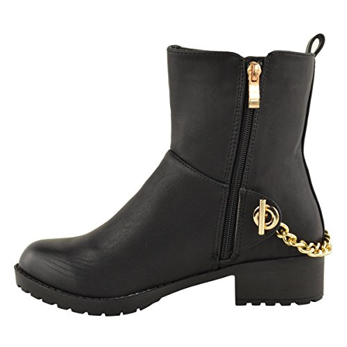 Leather WOMENS BIKER LOW SHOES BOOTS RIDING PULL Black Faux HEEL CHELSEA MID ON ANKLE LADIES FLAT pxwpgFqZH