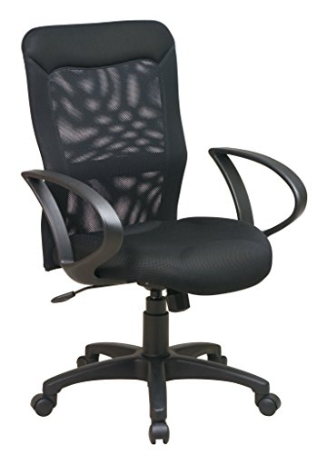 Office Star Mesh Screen Back and Mesh Seat Chair with Loop A
