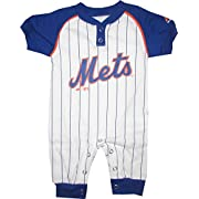 New York Mets Pin Stripes Coverall Infant Baby (3-6 Months)