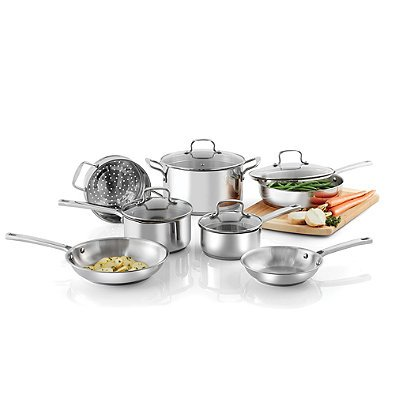 SALT 11-Piece Stainless Steel Cookware Set