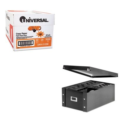 KITIDESNS01658UNV21200 - Value Kit - Snap-n-store CD Storage Box (IDESNS01658) and Universal Copy Paper (UNV21200)