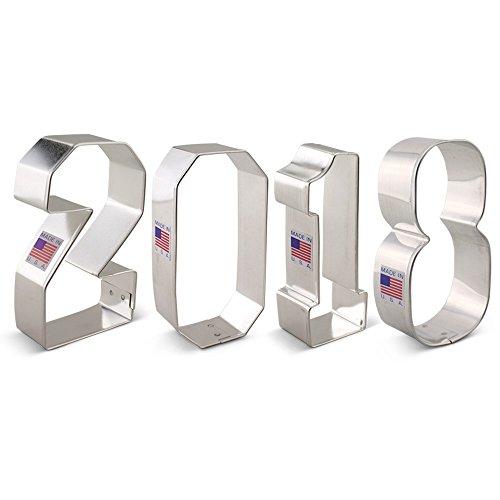 New Year's Eve / Graduation / 2018 Cookie Cutter Set - 4 piece - Ann Clark - US Tin Plated Steel