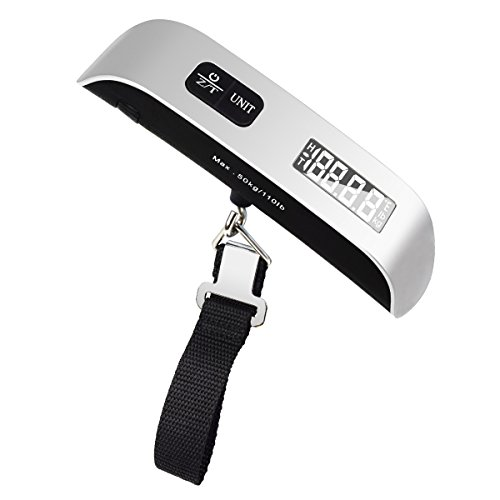 Luggage Scale 110lb Electronic Balance Digital Travel Luggage Hanging Weight Scale with Rubber Paint Handle