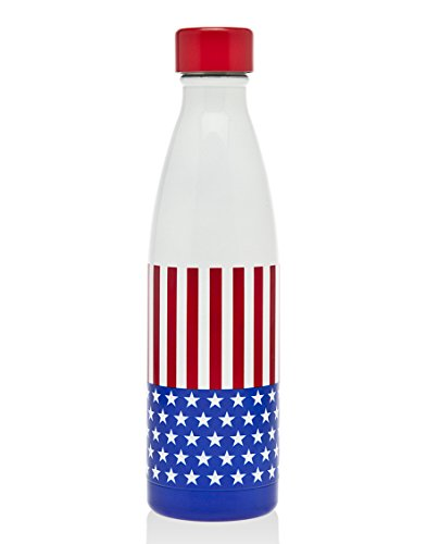 Water Red Usa - Godinger American Flag Patriotic USA Stars and Stripes Red White and Blue Insulated 17 Oz. BPA FREE Water Bottle