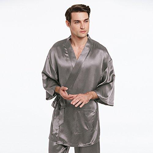 LILYSILK Conjunto de Pijama Hombre 100% Seda Natural de 22 Momme Estilo Kimono: Amazon.es: Ropa y accesorios
